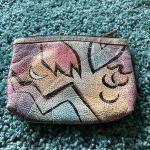 EUC the Animal hand painted make-up bag.